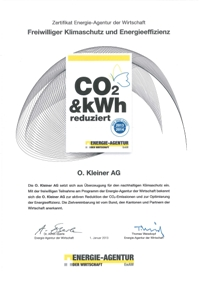 2013 CO2 Zertifikat D